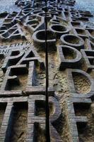 deur naar la sagrada familia - barcelona foto