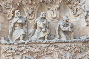 buitenkant van sagrada familia foto