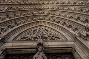 kathedraal van barcelona in catalonië / spanje