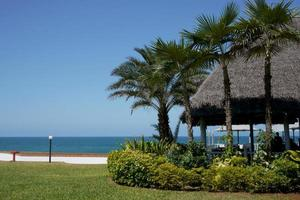 oceaan promenade in Tanzania foto