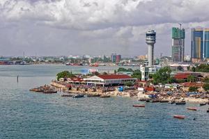 panorama van Dar es Salaam