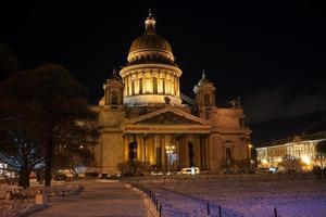 nacht Sint-Petersburg. foto