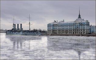 aurora cruiser in Sint-Petersburg foto