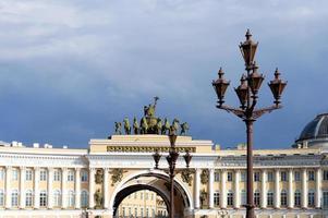 Generaal stafgebouw in Sint-Petersburg foto