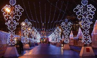 Kerstverlichting in de straat Sint-Petersburg