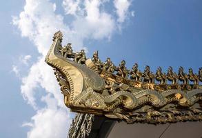 traditioneel dak van myanmar foto
