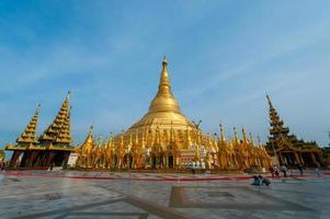 shwedagon pagode. Yangon, Myanmar foto
