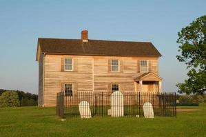 Henry House en begraafplaats in Manassas foto