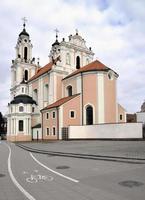 st. catherine kerk in vilnius, litouwen foto