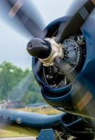 propeller van een vintage vliegtuig foto