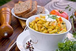 sperziebonen (gele bonen) - gezonde maaltijd foto