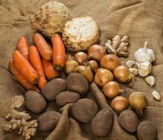 groenten op deken foto