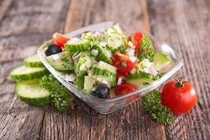 komkommer salade foto