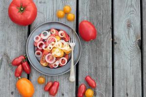 tomatensalade. foto