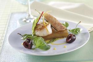 Sint-jakobsschelpen salade foto