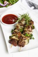 kebab en salade foto