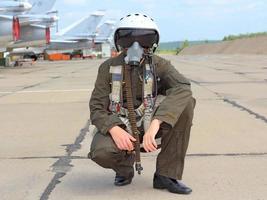 militaire piloot foto