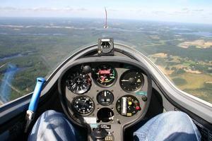 zweefvliegtuig cockpit foto