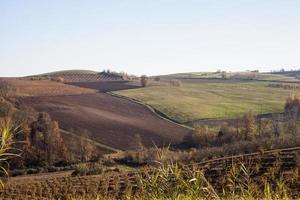 landschap van heuvels foto