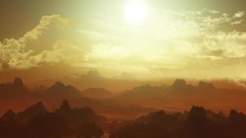 3D buitenaards landschap foto