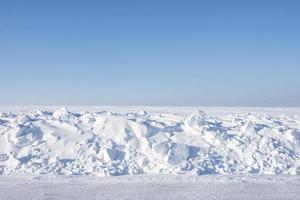 verlaten winterlandschap foto