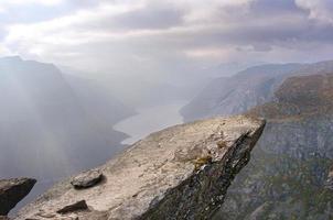 landschap in de bergen, Noorwegen foto