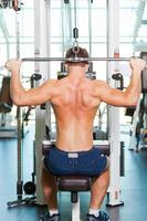 training van zijn lichaam tot in de perfectie. foto