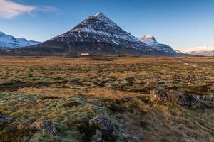 landschap van winter IJsland