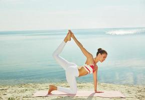 yoga ter vrije besteding foto