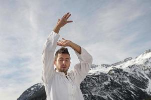 tai chi, yoga yoga en qi gong foto