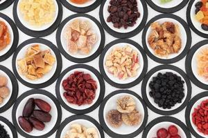 selectie van gedroogd fruit