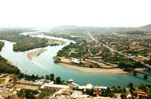 het landschap van albanië foto