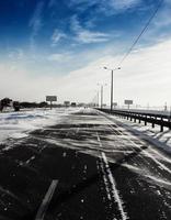 winter weg foto