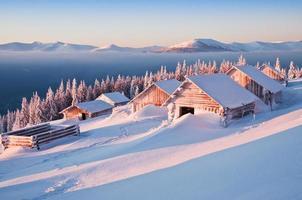 winter, hutten