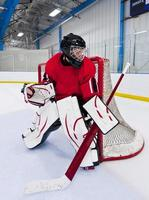 ijshockey keeper foto