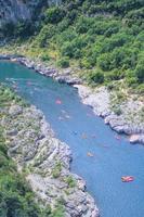 Ardèche Canyon, Zuid-Frankrijk foto