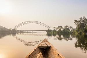 kanotocht in Afrika foto
