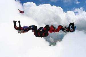 parachutespringen foto. foto
