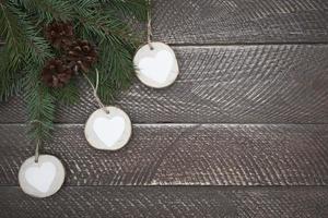ronde decoraties op een rij foto