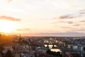 landschap van de stad florence