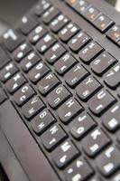 computertoetsenbord close-up, macro foto