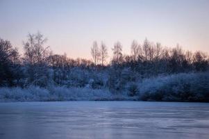 koude winterochtend foto