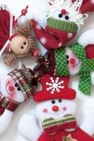 Kerstman en vrienden. grappige compositie. foto