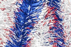 zilver rode en blauwe linten