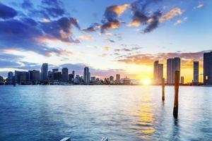 Miami City bij nacht foto