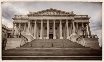 senaat vleugel van de Verenigde Staten capitol oostgevel foto
