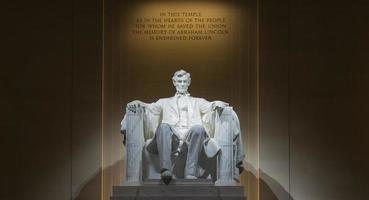 in het Lincoln Memorial foto