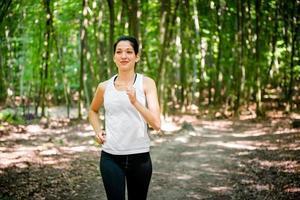 hardlopen in de natuur foto