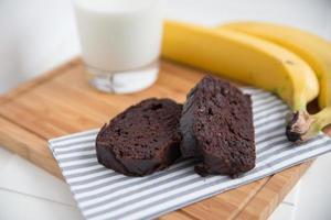 chocolade bananenbrood foto