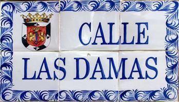 straatnaambord in Santo Domingo, Dominicaanse Republiek
